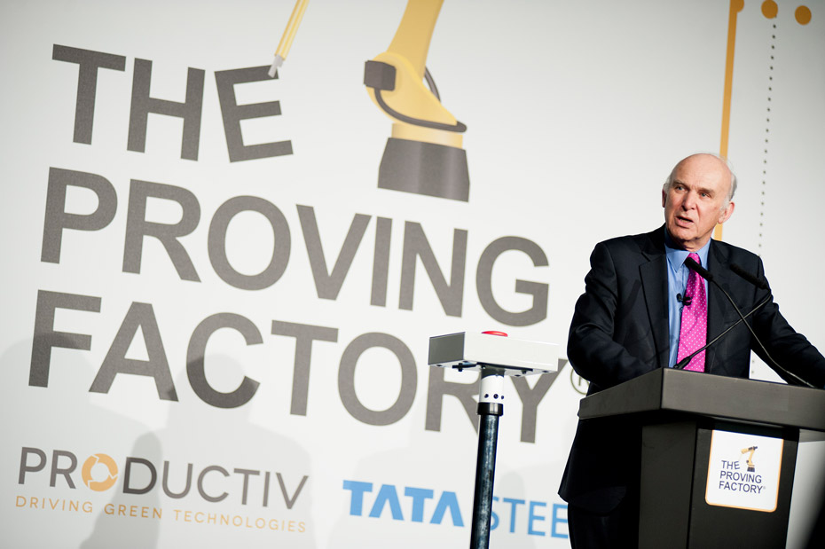 Vincent Cable Opening The Proving Factory